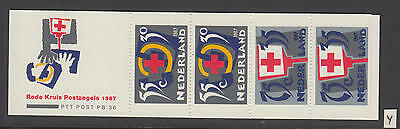 XG-W391 NETHERLANDS - Red Cross, 1987 4 Values PB36 MNH Booklet
