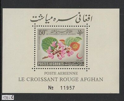 XG-W453 AFGHANISTAN - Red Cross, 1962 Crescent, Flowers MNH Sheet