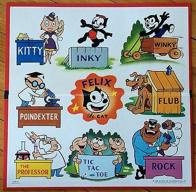 Vtg  Felix The Cat Productions Playing Board Game Milton Bradley #4019~1960