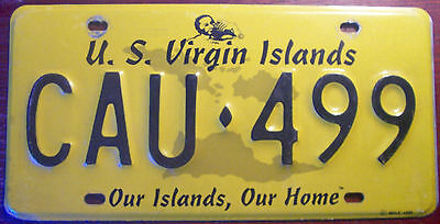 1999 U.s. Virgin Islands Graphic License Plate Our Islands Our Home Slogan Usvi