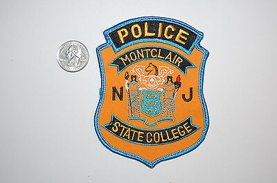 Montclair New Jersey College Police Patch