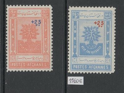 XG-W925 AFGHANISTAN - Refugee Year, 1960 Overprinted, 2 Values MNH Set