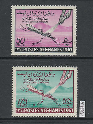 XG-W926 AFGHANISTAN - Malaria, 1961 Against, Campaign, 2 Values MNH Set