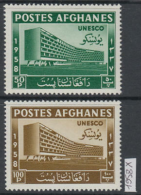 XG-W931 AFGHANISTAN - Unesco, 1958 Architecture, Building, 2 Values MNH Set