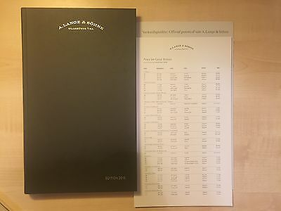 A. Lange & Sohne Hardcover Book 2016 Edition Catalogue