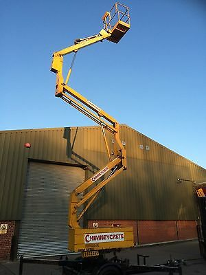 Simon Topper 17 meter cherry picker access platform scissor lift towable