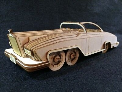 Laser Cut Wooden Rolls Royce FAB1 3D Model/Puzzle Kit