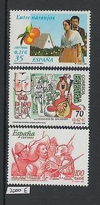XG-X370 SPAIN - Literature, 2000 Spanish, 3 Values MNH Set