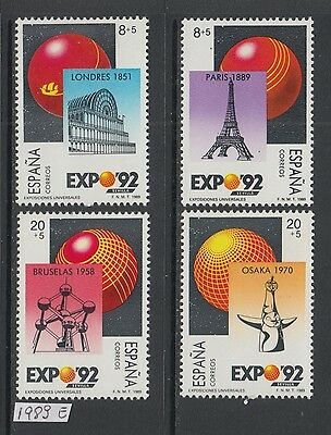XG-X441 SPAIN - Architecture, 1989 World Expoes, Osaka London Paris MNH Set