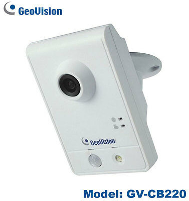 Geovision 2MP H.264 HD 1080P Mini Cube IP Camera with Free 32CH NVR Software