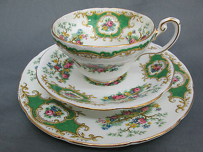Vintage Foley China Broadway Teacup Saucer Plate Trio