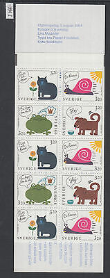 XG-X923 SWEDEN - Cats, 1994 Dogs, Children Paintings MNH Booklet