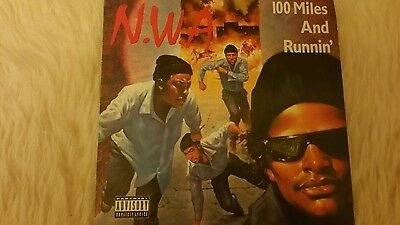 N.W.A. nwa 100 miles and runnin 7 inch vinyl super rare superb condition LOOK!!!