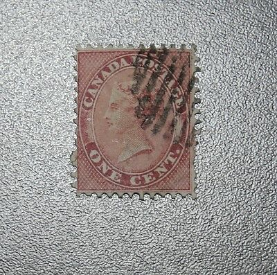 1859 Canada Stamp #14 used 2