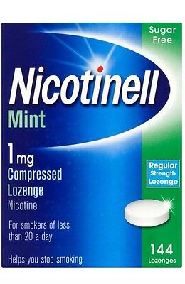 Nicotinell Mint 1mg Compressed 144 Lozenge Nicotine Sugar Free Exp 03/2018