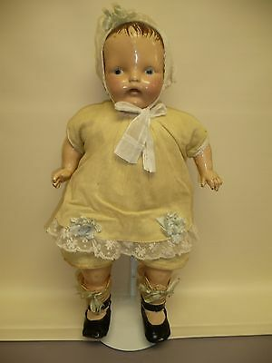 """Beautiful 20"""" Antique Ideal? Composition Doll, All Original 1920's"""