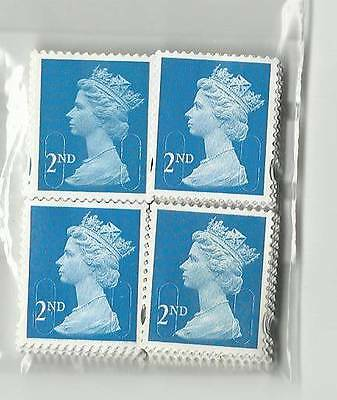 OFF PAPER 50 x 2nd Class Second Class ALL Blue Stamps Unfranked No Gum