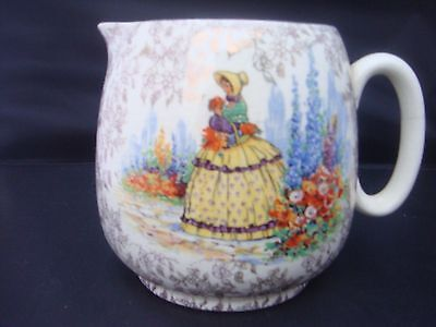 Crinoline Lady Or Lavender Lady  Jug By Bewley Pottery Made In England