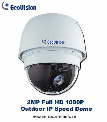 2MP Geovision GV-SD200S Full HD Outdoor WDR D/N IP PTZ Speed Dome/18X Optical