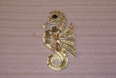 Vintage 1974 Design Gifts Lucite Seashell Seahorse Wall Plaque Small