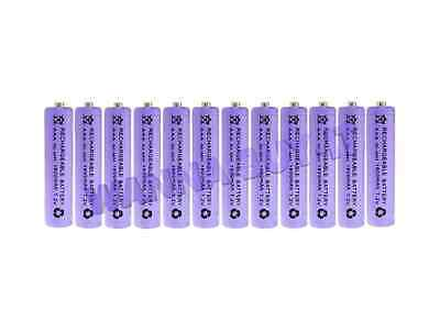 12 x AAA 1800mAh 1.2v Rechargeable Batteries for Cordless Telephones