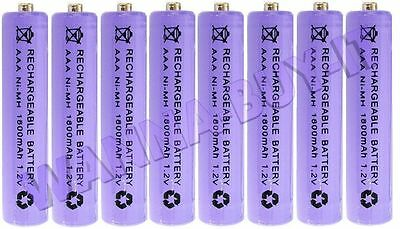 8 x AAA 1800mAh 1.2v Rechargeable Batteries for Cordless Telephones