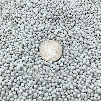 25 lbs Heavy White Plastic Poly Pellets for Craft Projects and Weighted Blankets