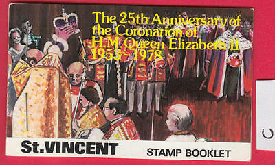 XG-Y029 ST VINCENT - QEII, 1978 Coronation Silver Jubilee MNH Booklet