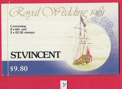 XG-Y060 ST VINCENT - Lady Diana, 1981 Charles, Royal Wedding MNH Booklet