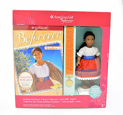 AMERICAN GIRL BEFOREVER Joselina 3-BOOK COLLECTION Mini Doll & Stand RARE