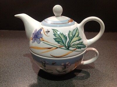 Royal Worcester - Tea For One - Blue Meadow - 2004