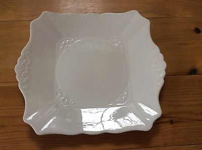 Vintage White Plate , Plant Tuscan China . Dia. 24cm