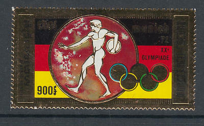 XG-Y389 CAMBODIA - Olympic Games, 1972 Germany Munich '72, Gold Foil MNH Set