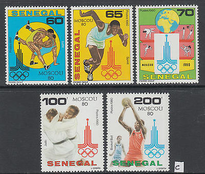 XG-Y428 SENEGAL IND - Olympic Games, 1980 Russia Moscow '80, 5 Values MNH Set