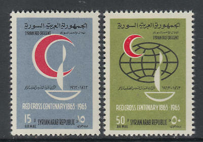 XG-Y471 SYRIA IND - Red Cross, 1963 Crescent, Centenary MNH Set