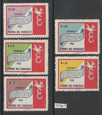 XG-Y472 SYRIA IND - Set, 1961 Hommage To Europe, Postage 5 Values MNH