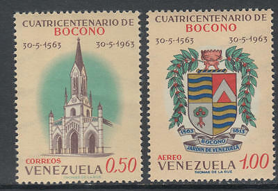 XG-Y504 VENEZUELA - Coats Of Arms, 1963 Bocono Anniversary, 2 Values MNH Set