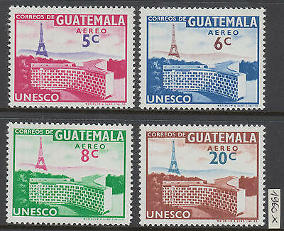 XG-Y521 GUATEMALA - Unesco, 1960 Building, 4 Values MNH Set