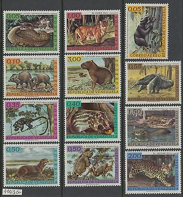 XG-Y614 VENEZUELA - Wild Animals, 1963 Fauna, 12 Values MNH Set