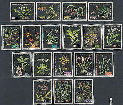 XG-Y618 VENEZUELA - Flowers, 1963 Orchids, Wild Flora, 18 Values MNH Set