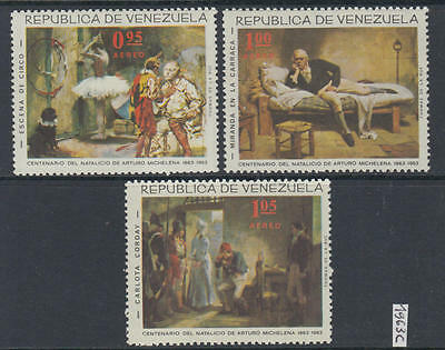 XG-Y619 VENEZUELA - Paintings, 1963 Arturo Michelena Centenary MNH Set