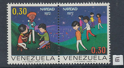 XG-Y625 VENEZUELA - Christmas, 1972 2 Values Pair MNH Set