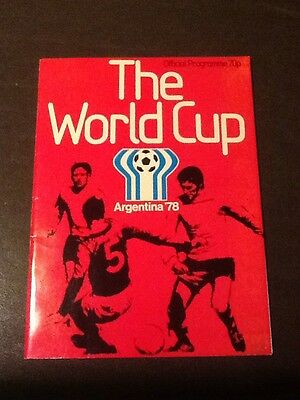 World Cup Official Programme Argentina 1978 Excellent Condition