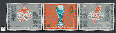XG-Y690 CAMEROON IND - Football, 1974 Germany Munich, 3 Values Strip MNH Set