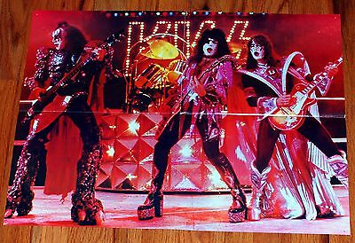 KISS 1979 Dynasty I Was Made Concert Video Poster Magazine Centerfold Aucoin