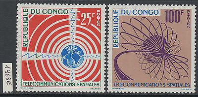 XG-Y817 CONGO BRAZZAVILLE - Telecommunications, 1963 Space, 2 Values MNH Set