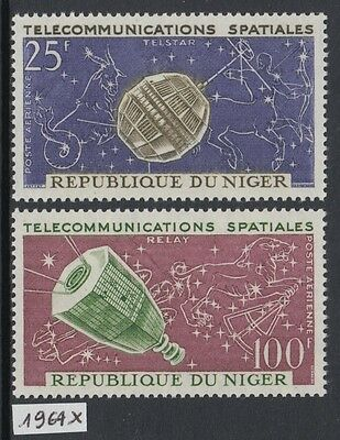 XG-Y838 NIGER IND - Space, 1964 Astronomy, Telstar, Relay Satellites MNH Set