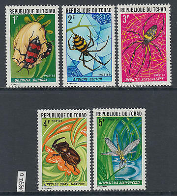 XG-Y900 CHAD IND - Insects, 1972 Flora, Nature, Spiders MNH Set