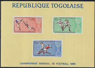 XG-Y967 TOGO IND - Football, 1966 England World Cup, Imperf. MNH Sheet