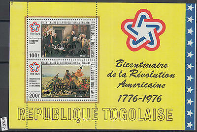 XG-Y968 TOGO IND - American Bicent., 1976 Interphil Overprints MNH Sheet